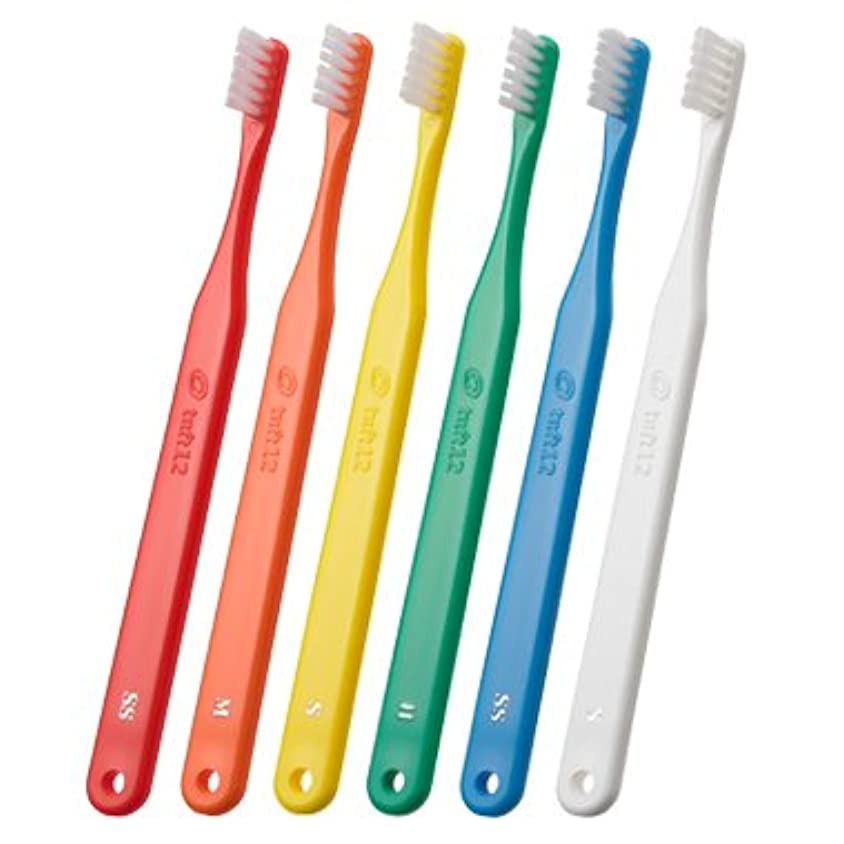 精査怠感社交的歯科用 タフト12 SS 25本 スーパーソフト【歯ブラシ】【やわらかめ】矯正患者さん向け _ イエロー