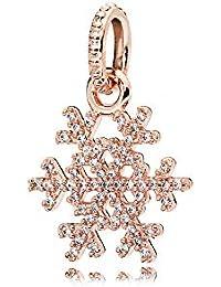 [パンドラ] PANDORA Sparkling Snowflake ネックレスペンダント(パンドラ ローズ キュービックジルコニア) 正規輸入品 380354CZ