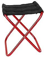 Outpicker アウトドアチェア 折りたたみ椅子 ポータブルチェア 運動会 軽量 コンパクト スツール 釣り アウトドア用品 収納ポーチ付き (レッド)