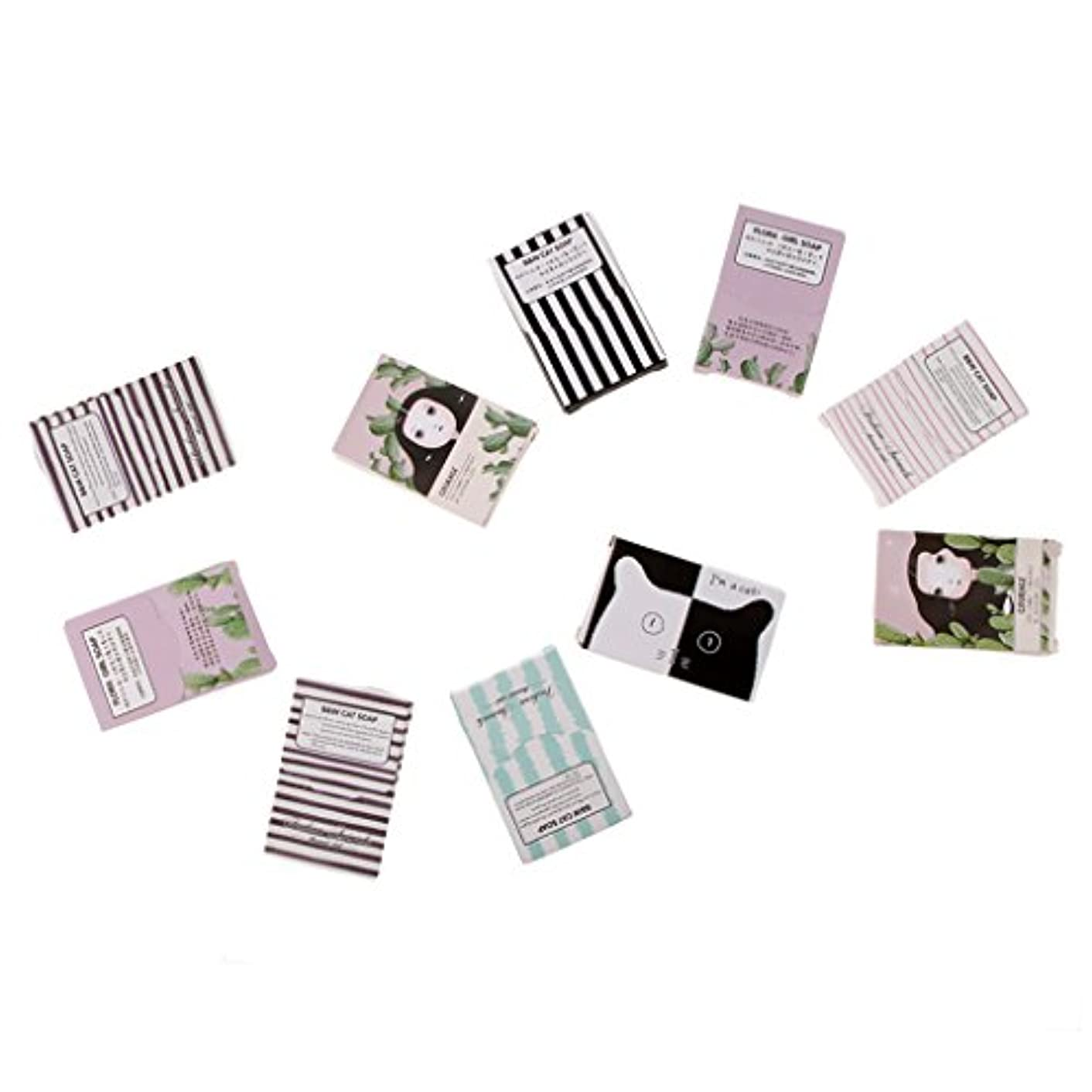 ピザ乱れ思いつくchiwanji 携帯用旅行サイズのポケットペーパー石鹸の手洗いの泡立つスライス150枚のシート