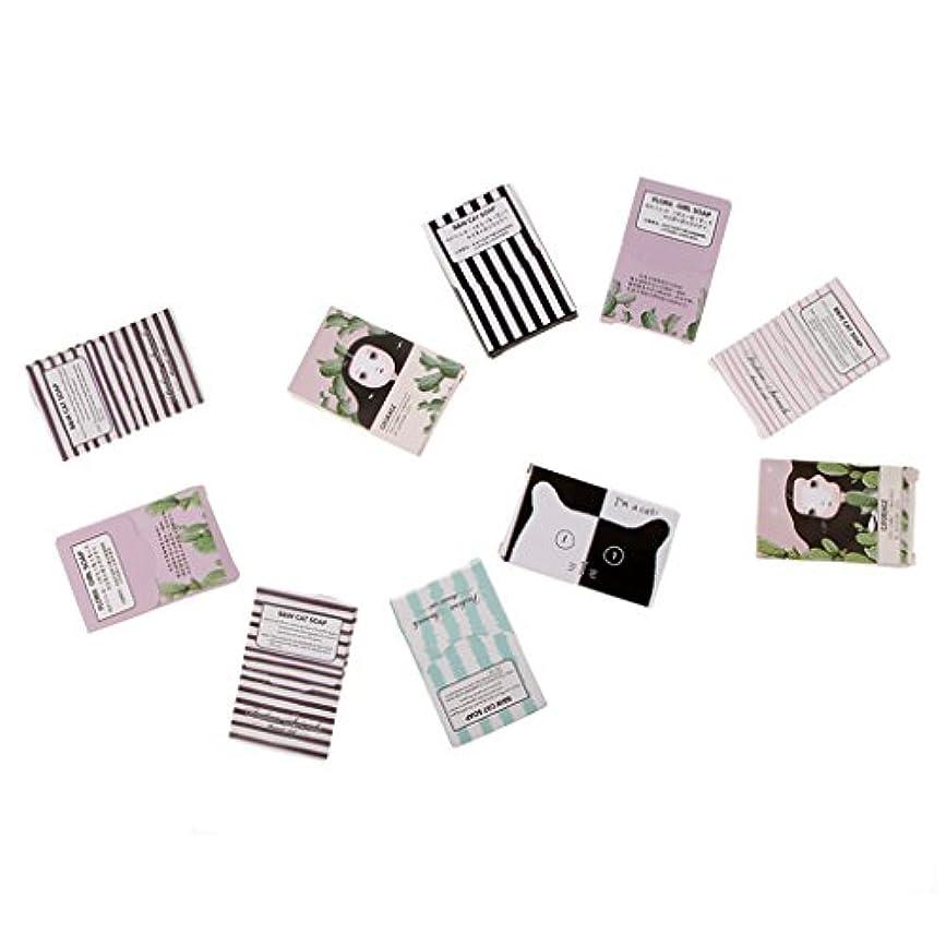ヒロイン十一違反するキャンプアウトドアのための150枚の旅行紙の石鹸シート手洗い石鹸フレーク