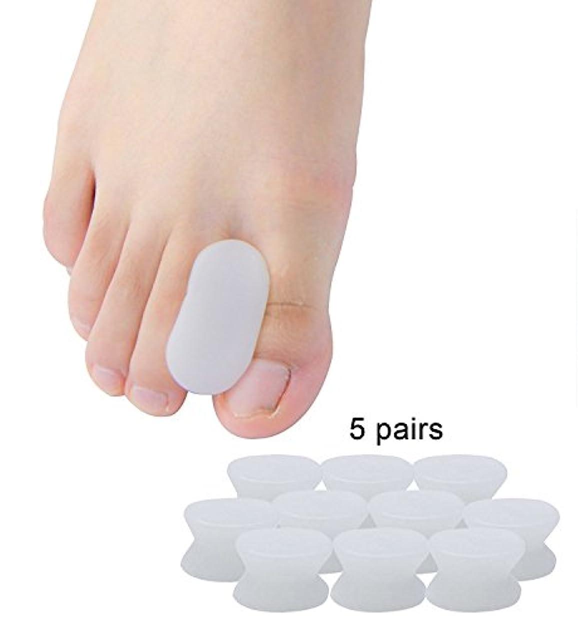 列挙する求める楽なPovihome 外反母趾 サポーター, 足指セパレーター,バニオン 5ペア 足指衝撃ストッパー, 柔らかゲルでやさしくサ (S)