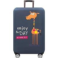 Dream スーツケースカバー 荷物カバー キャリーカバー 伸縮素材 防水 防汚れ 傷付け防止 盗難防止 スーツケースカバーキャリーバッグ (XL, グレー)