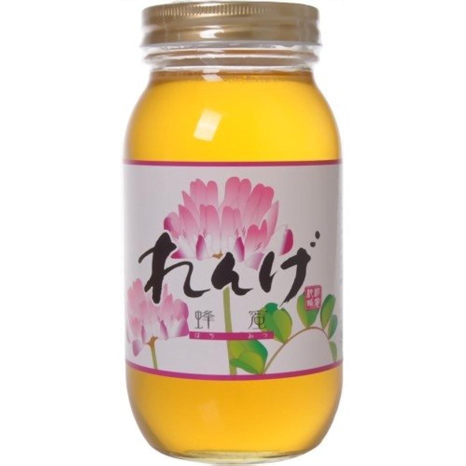 地上で確保する未就学藤井養蜂場 中国産レンゲはちみつ 1kg