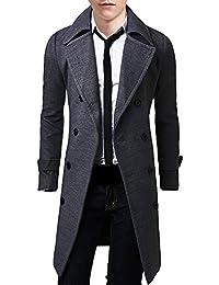 (SGL Collection) コート メンズ ロングコート チェスター ダブルブレスト スリム 3色選択 大きい サイズ あり S ~ XXL 【 日本向け オリジナル サイズ仕様 】