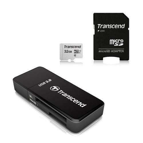 Transcend USB 3.0 Super Speed カードリーダー TS-RDF5K ブラック + microSD カード 32GB UHS-I Class10 Nintendo Switch/3DS 動作確認済 TS32GUSD300S-AE
