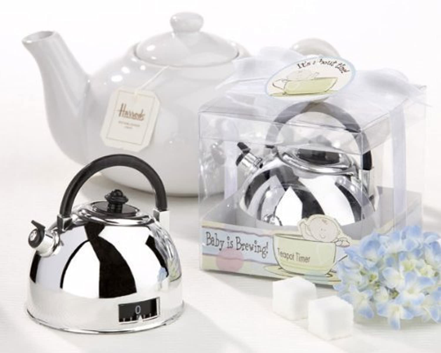 It's About Time - Baby is Brewing Teapot Timer - Baby Shower Gifts & Wedding Favors (Set of 24) by CutieBeauty KA [並行輸入品]