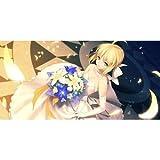 天秤を揺らす女 同人ラバープレイマット Fate/stay night 『セイバー/illust:曽我誠』【Character1 2014/COMIC1☆8】