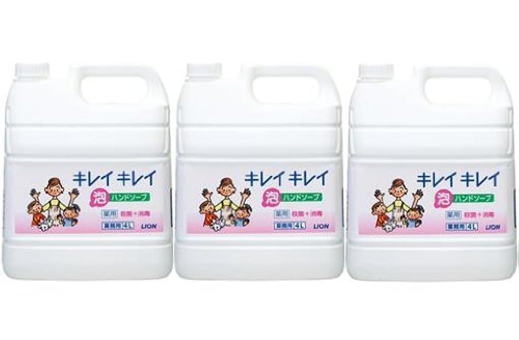 前件説得明確なライオン株式会社 キレイキレイ 薬用泡ハンドソープ 業務用 4L×3個セット