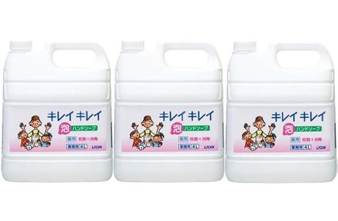髄決済子供達ライオン株式会社 キレイキレイ 薬用泡ハンドソープ 業務用 4L×3個セット