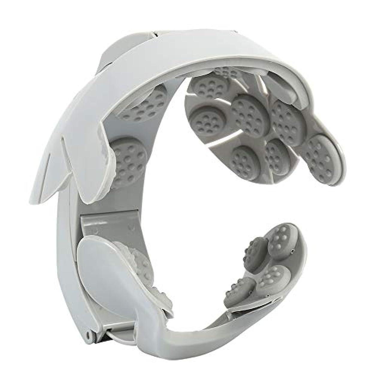 聴覚障害者器用近代化PandaCherry_JP ヘッドマッサージャー 電動 ヘッドマッサージ器 頭皮マッサージ器 頭皮ブラシ 抜け毛 ヘッドスパ USB充電式 ワイヤレス マッサージャー 人気 血行促進 頭皮ケア 疲れやストレス緩和
