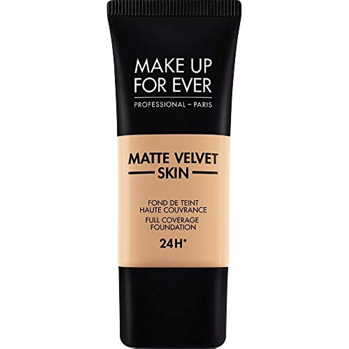 火山学者カテゴリー優先権[MAKE UP FOR EVER ] これまでマットベルベットの皮膚のフルカバレッジ基礎30ミリリットルのY325を補う - 肉 - MAKE UP FOR EVER Matte Velvet Skin Full Coverage...