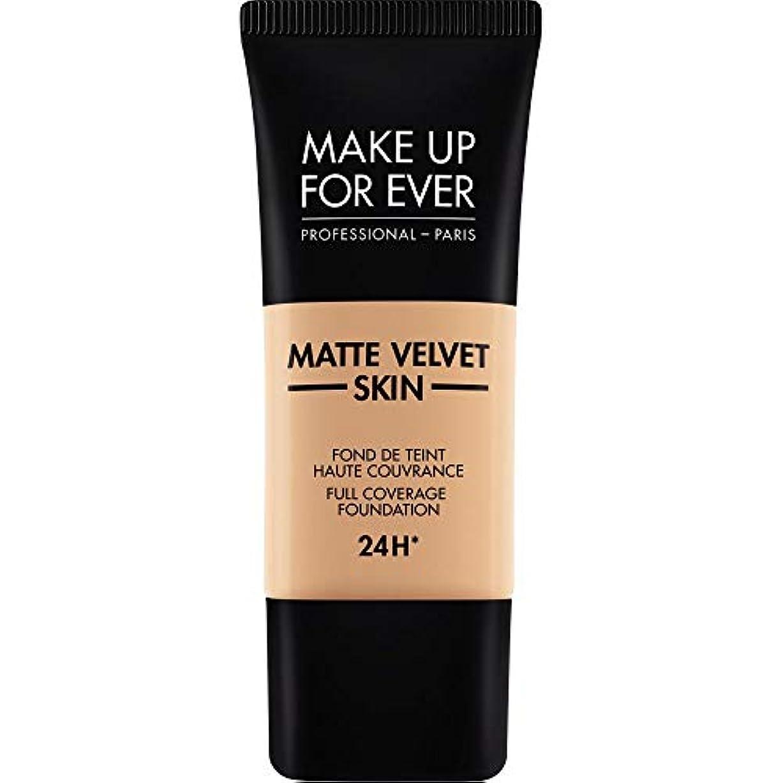 うま宇宙の尊厳[MAKE UP FOR EVER ] これまでマットベルベットの皮膚のフルカバレッジ基礎30ミリリットルのY325を補う - 肉 - MAKE UP FOR EVER Matte Velvet Skin Full Coverage...