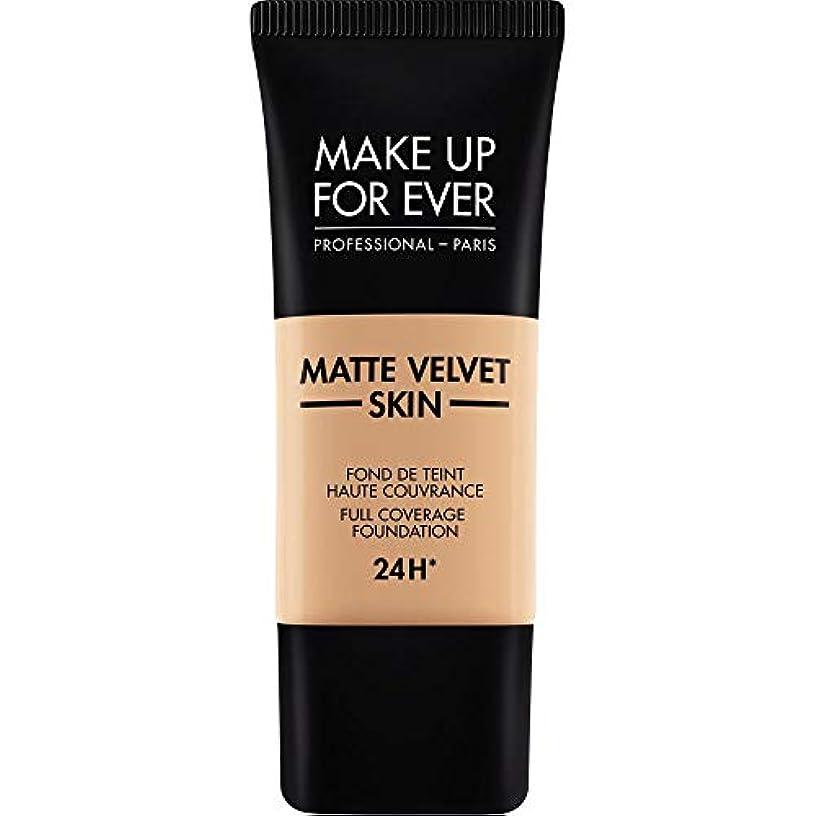 小康日フィールド[MAKE UP FOR EVER ] これまでマットベルベットの皮膚のフルカバレッジ基礎30ミリリットルのY325を補う - 肉 - MAKE UP FOR EVER Matte Velvet Skin Full Coverage...
