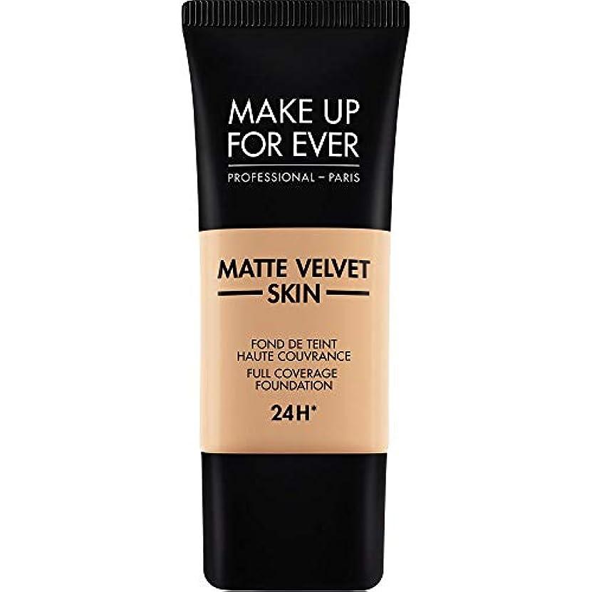 アテンダント桁サスペンド[MAKE UP FOR EVER ] これまでマットベルベットの皮膚のフルカバレッジ基礎30ミリリットルのY325を補う - 肉 - MAKE UP FOR EVER Matte Velvet Skin Full Coverage...