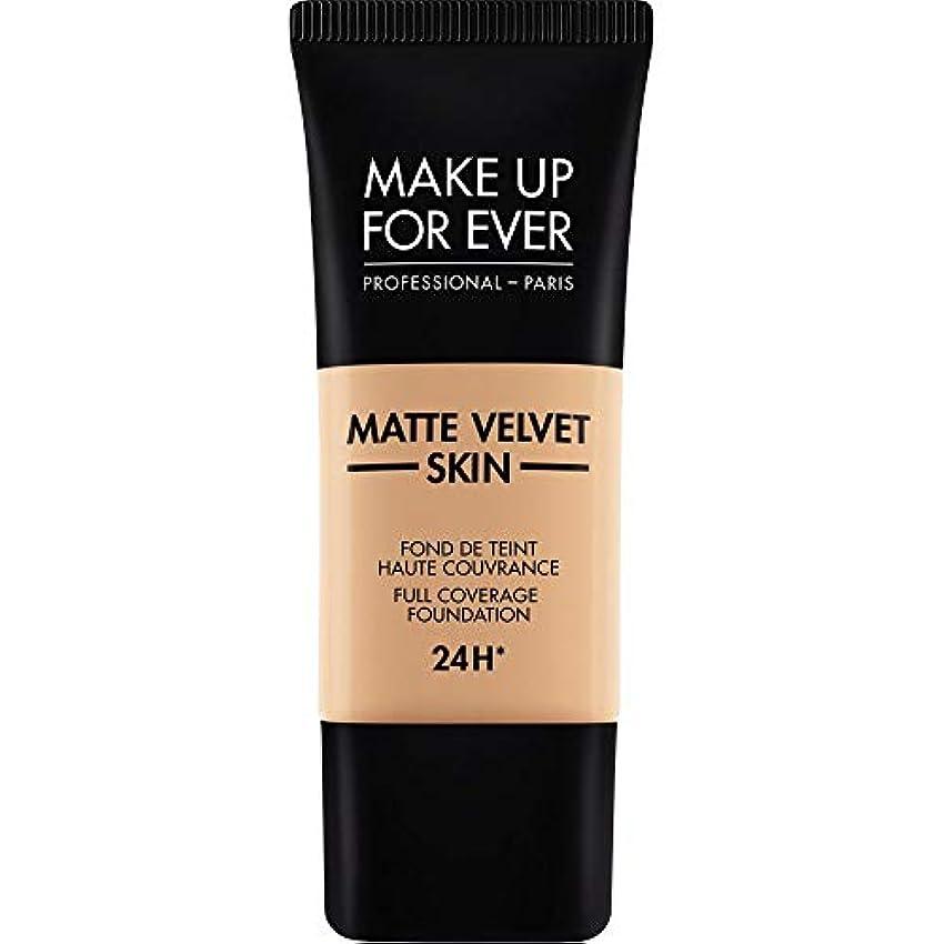 型キャッシュアカデミック[MAKE UP FOR EVER ] これまでマットベルベットの皮膚のフルカバレッジ基礎30ミリリットルのY325を補う - 肉 - MAKE UP FOR EVER Matte Velvet Skin Full Coverage...
