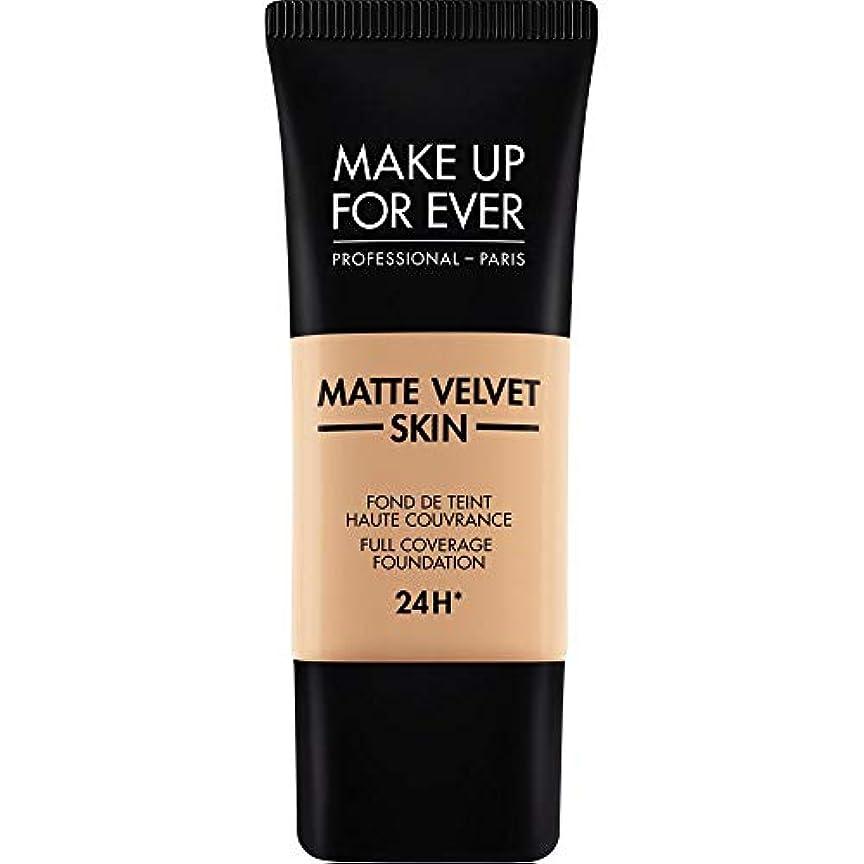 鳴り響く炎上モロニック[MAKE UP FOR EVER ] これまでマットベルベットの皮膚のフルカバレッジ基礎30ミリリットルのY325を補う - 肉 - MAKE UP FOR EVER Matte Velvet Skin Full Coverage...
