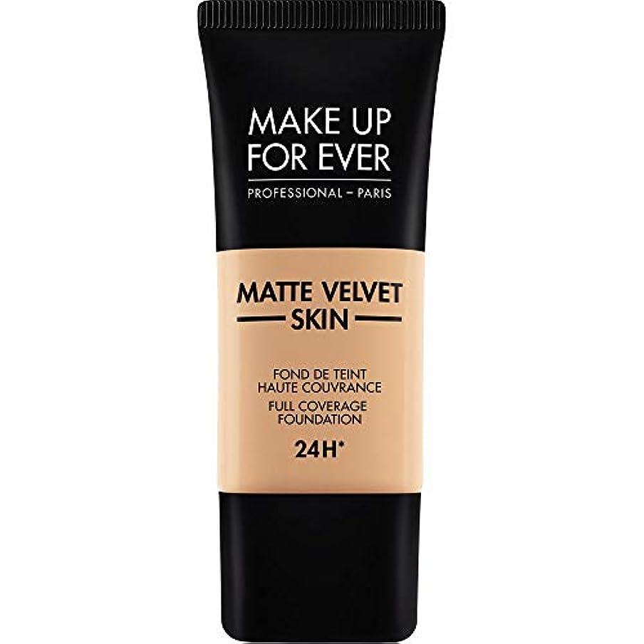 精算課す珍味[MAKE UP FOR EVER ] これまでマットベルベットの皮膚のフルカバレッジ基礎30ミリリットルのY325を補う - 肉 - MAKE UP FOR EVER Matte Velvet Skin Full Coverage...