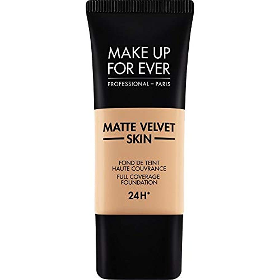 マエストロ恥ずかしいグレートオーク[MAKE UP FOR EVER ] これまでマットベルベットの皮膚のフルカバレッジ基礎30ミリリットルのY325を補う - 肉 - MAKE UP FOR EVER Matte Velvet Skin Full Coverage...