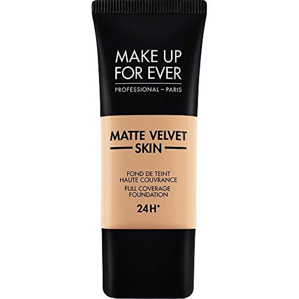 ゆり抽象化しなやかな[MAKE UP FOR EVER ] これまでマットベルベットの皮膚のフルカバレッジ基礎30ミリリットルのY325を補う - 肉 - MAKE UP FOR EVER Matte Velvet Skin Full Coverage...