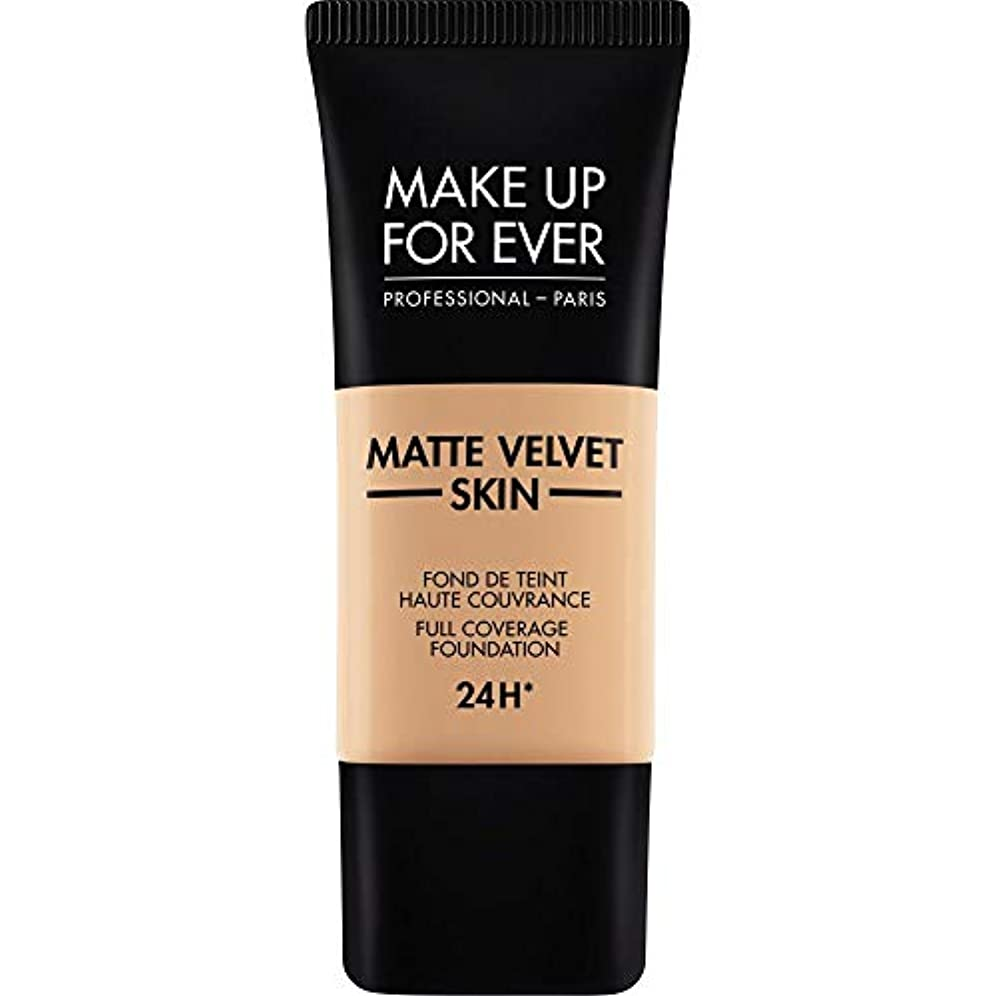呼吸気味の悪い挨拶する[MAKE UP FOR EVER ] これまでマットベルベットの皮膚のフルカバレッジ基礎30ミリリットルのY325を補う - 肉 - MAKE UP FOR EVER Matte Velvet Skin Full Coverage...