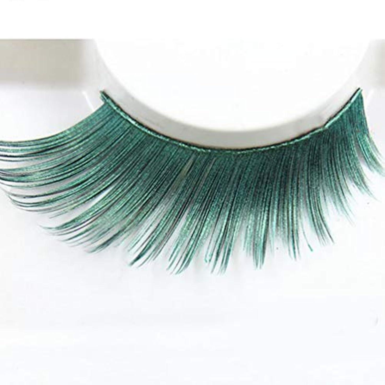防水申し込む磁石(ライチ) Lychee (ライチ) Lychee 2ペアはいり つけまつげ 濃密 超長い 誇張 目尻が伸びる 欧米スタイル ふんわりロング 手作り グリーン パーティー用 ステージメイク 長持ち