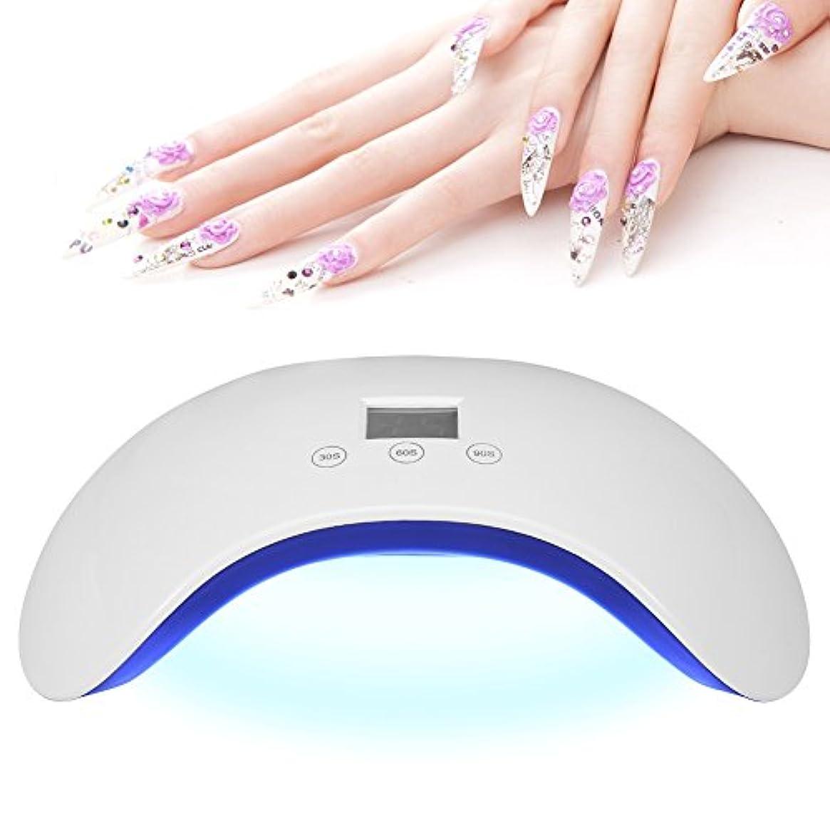 受益者コンチネンタルプレフィックスFilfeel UVネイルランプ LED UVネイルドライヤーネイルアートツールUV LEDゲルネイルスマートセンサー付き爪&足裏ベースポリッシュ(ホワイト)