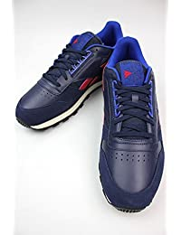 (リーボック)REEBOK CLASSIC LEATHER RE(スニーカー) navy×red×blue