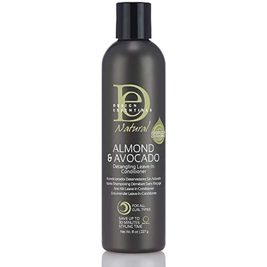 見込み文庫本モザイクDesign Essentials Natural Instant Detangling Leave-In Conditioner for Healthy, Moisturized, Luminous Frizz-Free Hair-Almond & Avocado Collection, 8oz.