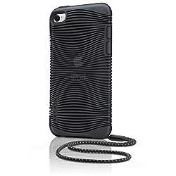 BELKIN iPod touch 4G 専用 ソフトシェルケース (TPU素材使用) ストラップ付き グリップエルゴ ブラック F8Z653QEC00