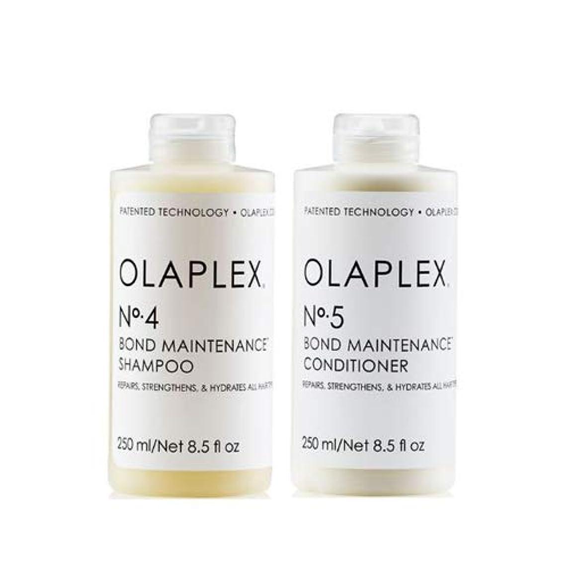 リレー準備錫Olaplex オラプレックス No. 4 5 ボンド メンテナンス シャンプー&コンディショナー Olaplex Bond Maintenance Shampoo & Conditioner 【並行輸入品】