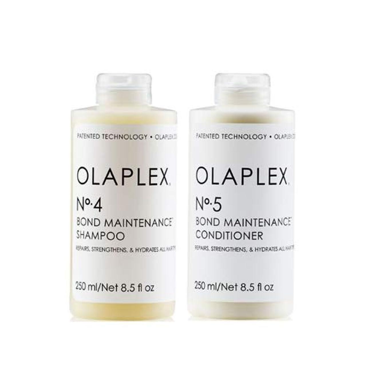 原油素晴らしいです必要とするOlaplex オラプレックス No. 4 5 ボンド メンテナンス シャンプー&コンディショナー Olaplex Bond Maintenance Shampoo & Conditioner 【並行輸入品】
