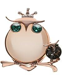 Perfeclan フクロウの像 スカーフバックル チャームジュエリー 日常着 特別な行事用 ギフト