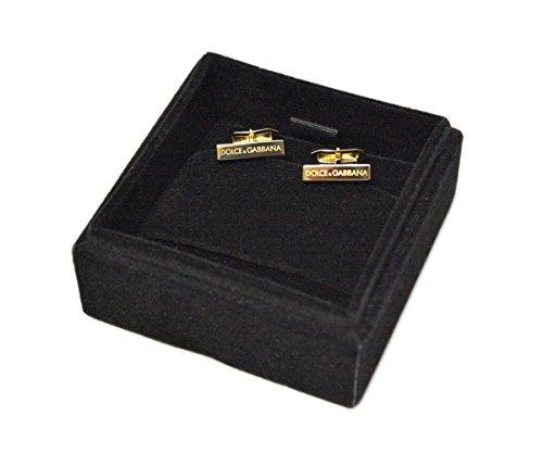 (ドルチェ&ガッバーナ)DOLCE&GABBANA カフス アクセサリー ビジネス スーツ DGロゴ ゴールド 【アウトレット】[並行輸入品]