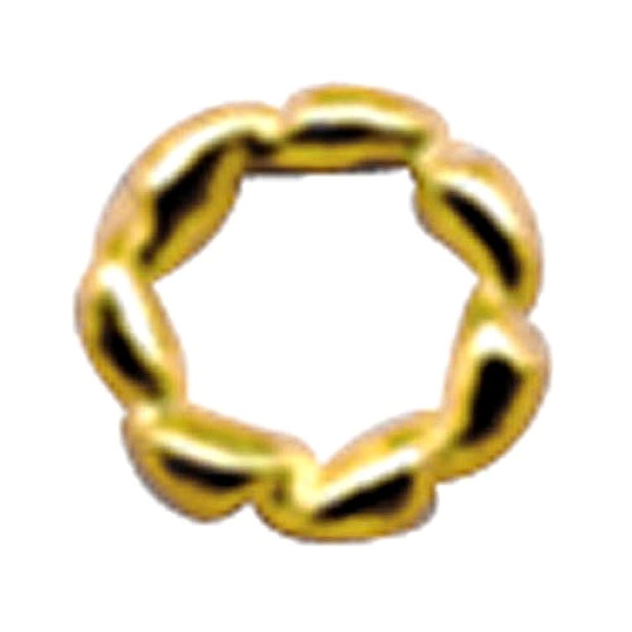 男らしさ行存在するプリティーネイル ネイルアートパーツ ツイストリングL ゴールド 10個