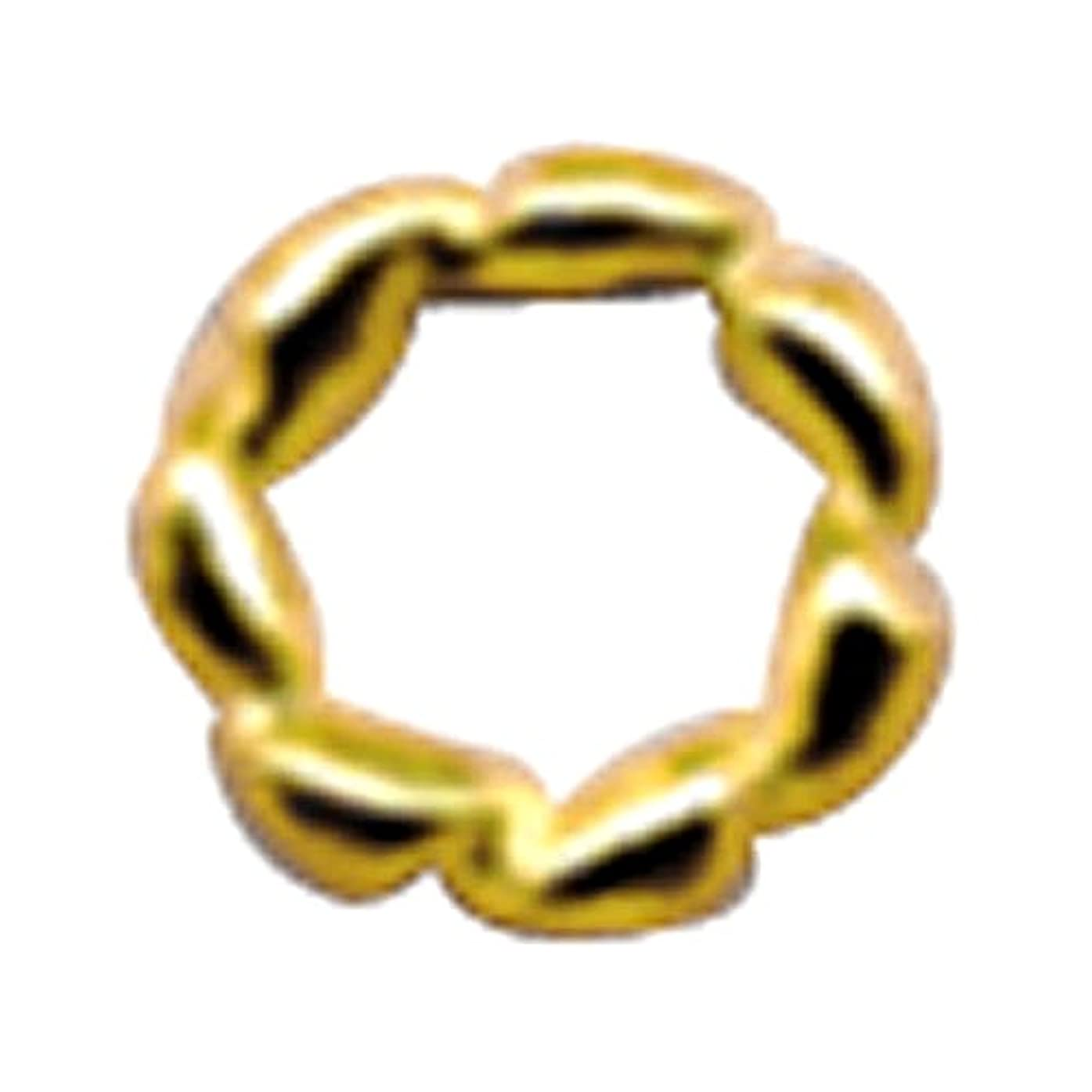 安らぎスクワイア豊富にプリティーネイル ネイルアートパーツ ツイストリングL ゴールド 10個