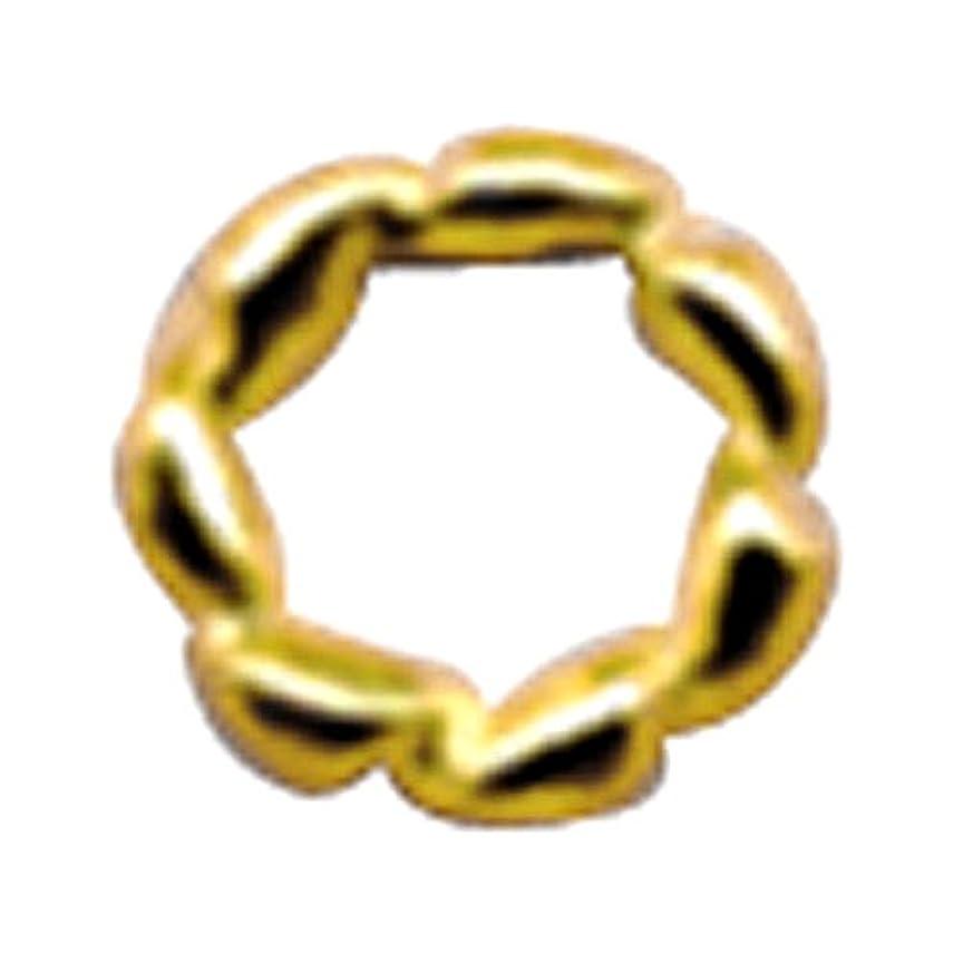 デモンストレーション債務者ストレージプリティーネイル ネイルアートパーツ ツイストリングL ゴールド 10個