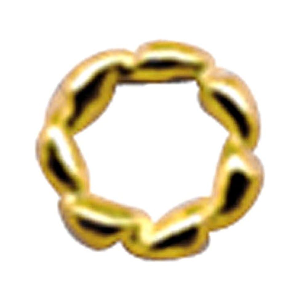 ピアースベスビオ山等しいプリティーネイル ネイルアートパーツ ツイストリングL ゴールド 10個