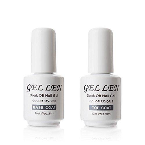 Gellen ジェルネイル UV LED ベースコート&トップコート セット 8ml