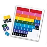Learning Resources LER0615 Rainbow Fraction Plastic Tiles with Tray