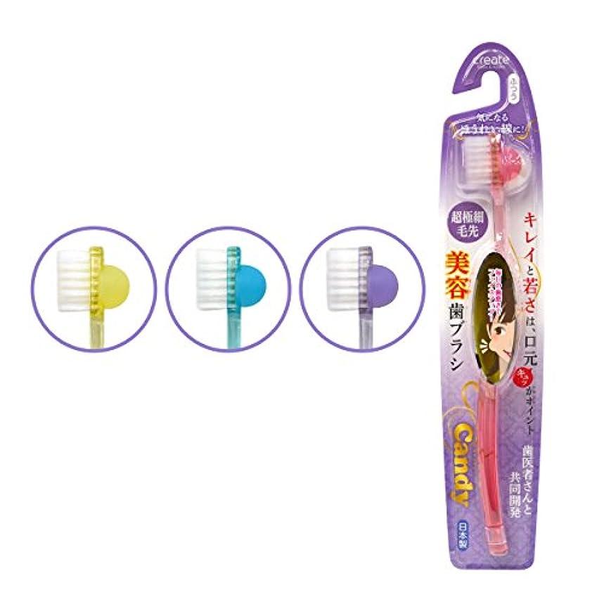 先のことを考える後方マイルドcandy(キャンディー)美容歯ブラシ ふつう 3本セット ※カラーランダム