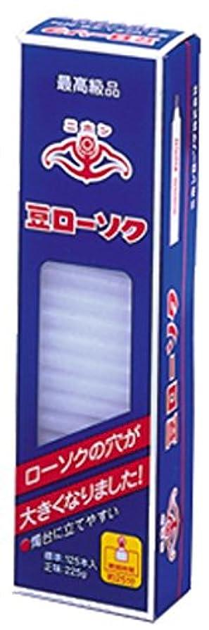 出血信号忠実ニホンローソク 豆ローソク1/2 225g
