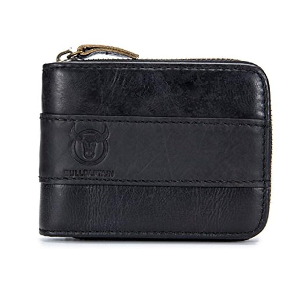 いつでも不愉快子猫二つ折り 財布 メンズ E Ekphero 牛革 大容量 高品質 カード沢山収納可能 ボックス型小銭入れ ビジネス プレゼント対応