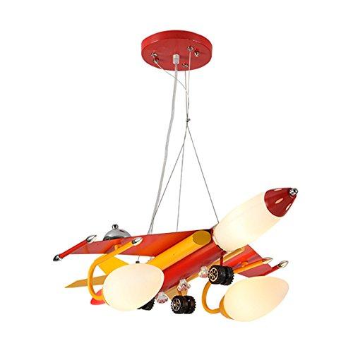 ASL 航空機のシャンデリア、子供部屋のシャンデリア男の子と女の子寝室の照明は、アイロンシャンデリアのリビングルームのルームライトE14多くのヘッド HAPPY ( サイズ さいず : B )