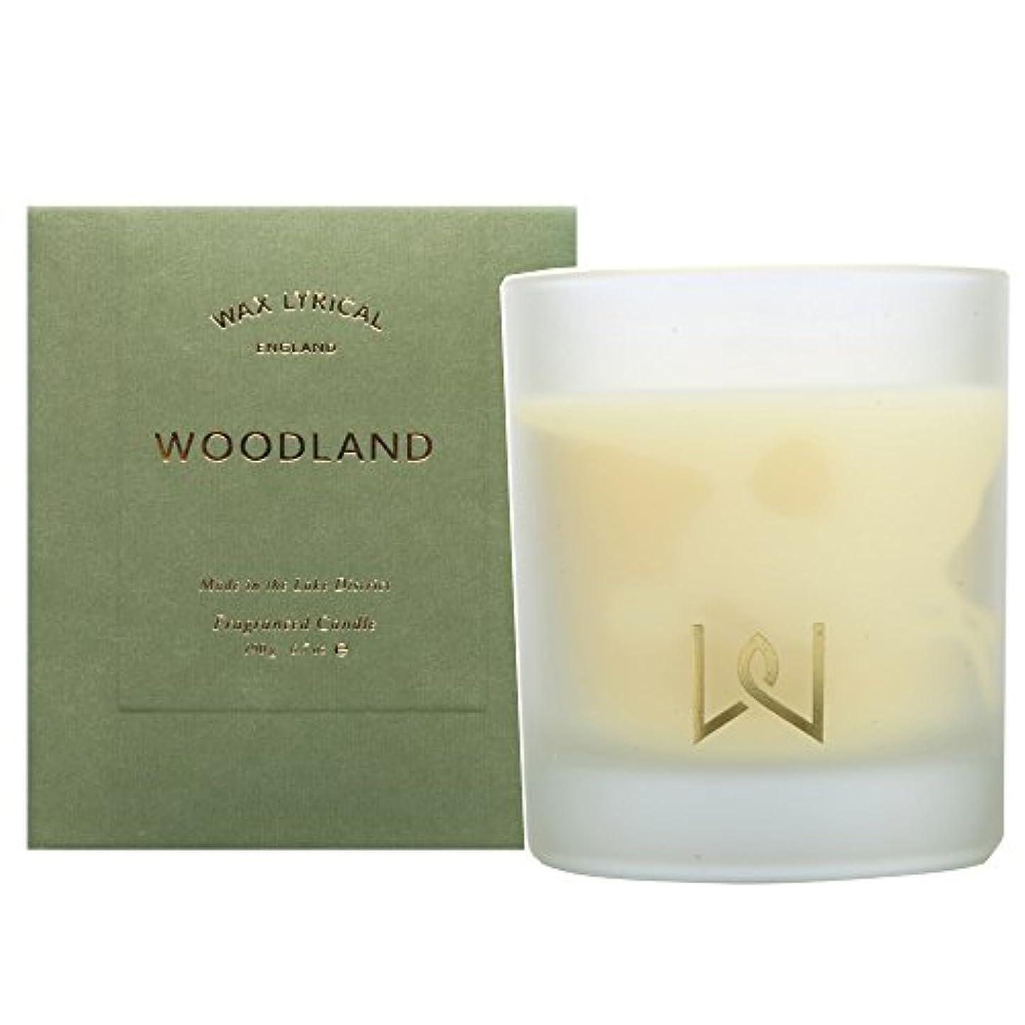 溢れんばかりのプラカード蒸ワックスリリカル(WAX LYRICAL) グラス入りキャンドル/ウッドランド