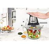 Electric Food Chopper Slicer Processor Vegetable Fruit Salad Compact Glass Bowl