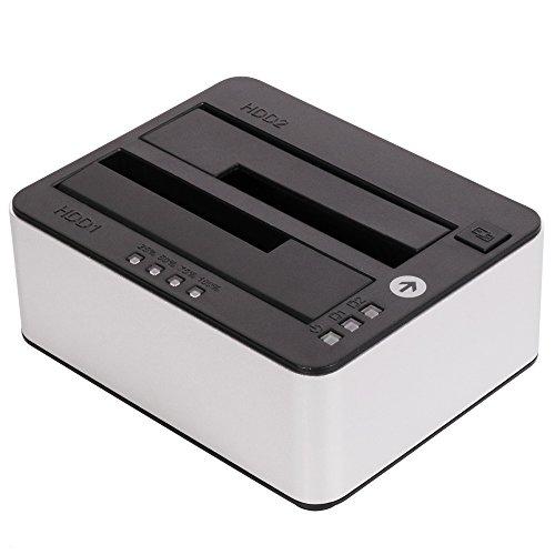 オウルテック USB3.0 接続 2.5 / 3.5インチ HDD / SSD 用 小型 ドライブクローン スタンド そのままコピー...
