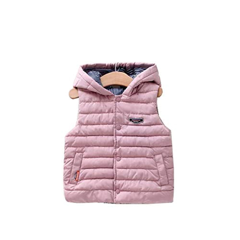 MEFINE 中綿ベスト ダウンベスト フード ダウンジャケット インナーウェア アウター ショート丈 袖なし 子供服 綿服 保温 通学 防寒着