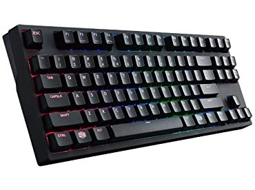 CoolerMaster MasterKeys Pro S赤軸 RGBカラーLED搭載 ゲーミング英語配列メカニカルキーボード(テンキーレス) KB384 SGK-6030-KKCR1-US