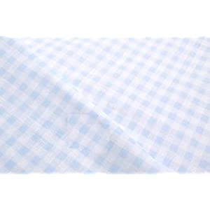 手芸のいとや 生地 ダブルガーゼ ギンガムチェック ソフト ブルーギンガム×ホワイト地ブルー 生地幅-約108cm×50cm 綿100%